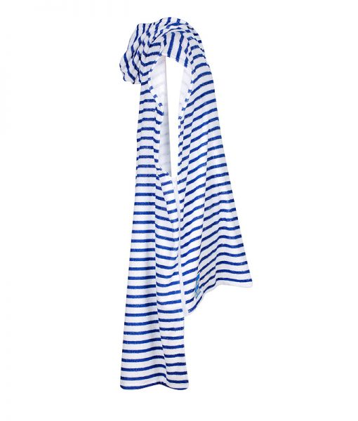 Striped LOLL beach towel with side zips