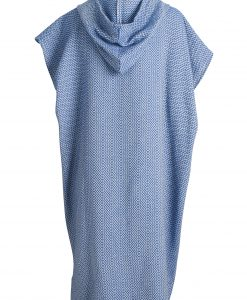 blue poncho turkish towel with hood