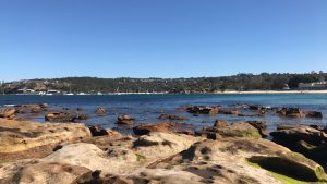 rock pools at Balmoral beach