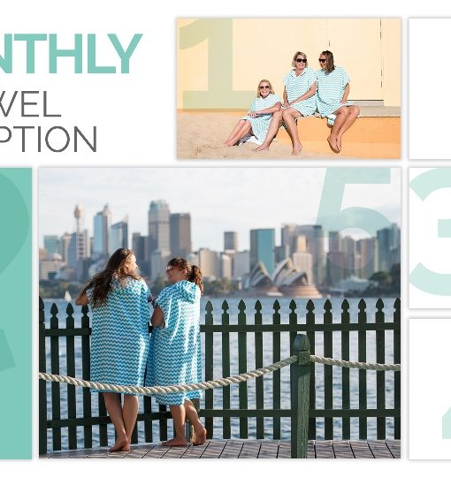 6 month poncho towel subscription