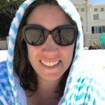 Lara with hood up