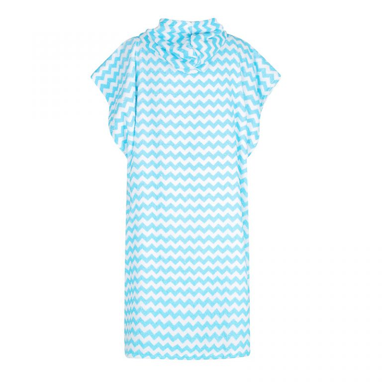 Back of Choppy ocean waves LOLL hooded towel