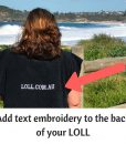 custom towel embroider text on your towel