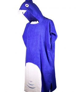 Adult shark towel with hood