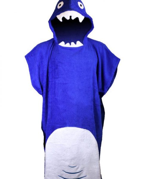 Front of Shark hooded towel