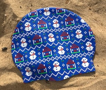 Snowman swimming cap