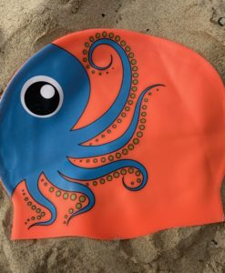 orange octopus swim hat