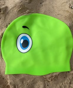 green sea monster swim hat
